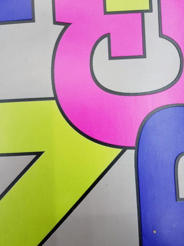 פי וי סי לחדר ילדים דגם מספרים צבעוני 2