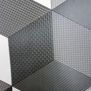 פי וי סי דגם מעויינים שחור לבן