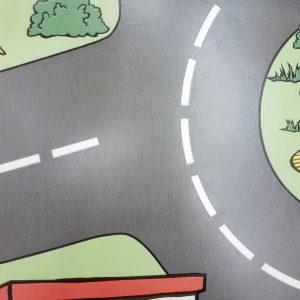 פי וי סי לחדר ילדים דגם רחוב