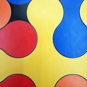 פי וי סי לחדר ילדים דגם פאזל צבעוני