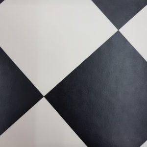 פי וי סי וינטאג' אריח מעויין שחור לבן